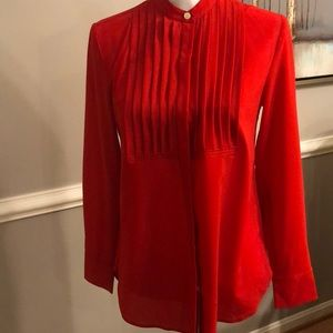 JCREW Red Blouse
